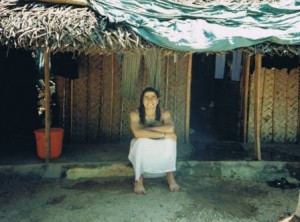 November 1995 Matias in front of Meditation Hut in Amritapuri Ashram India