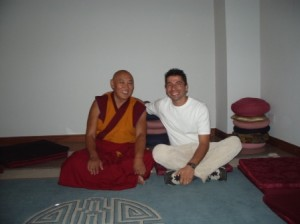 Lama Dundup and Matias in Costa Rica 2004