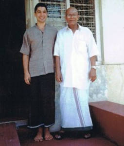 April 1996 Matias and S.K. Pattabi Jois in Mysore India